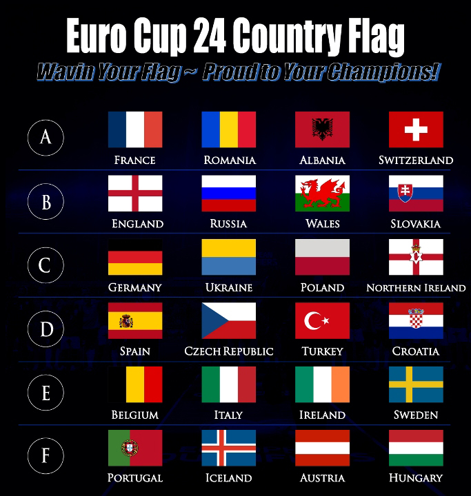 Uefa Euro Cup 2016 Flag Sale - MYFLAG MAKER ~ Wavin Your Pride