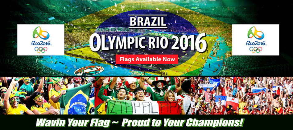 Brazil Rio Olympic Flag Sale Supply