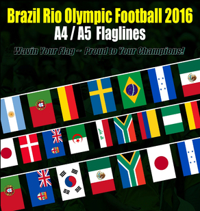 Brazil Rio Olympic 2016 Flagline Flag Buntings